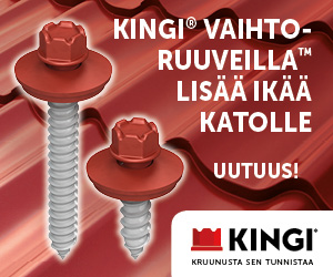 KINGI Vaihtoruuveilla lisää ikää katolle