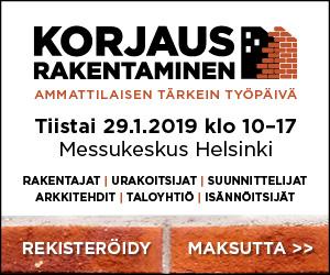 Korjausrakentaminene - ammattilaisten tärkein työpäivä. 29.1.2019 Messukeskuksessa